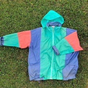 Pastel 90s COLORBLOCK Nylon Jacket